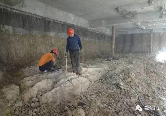超高层建筑22米深基坑逆作法施工现场,看基础如何倒过来施工_27