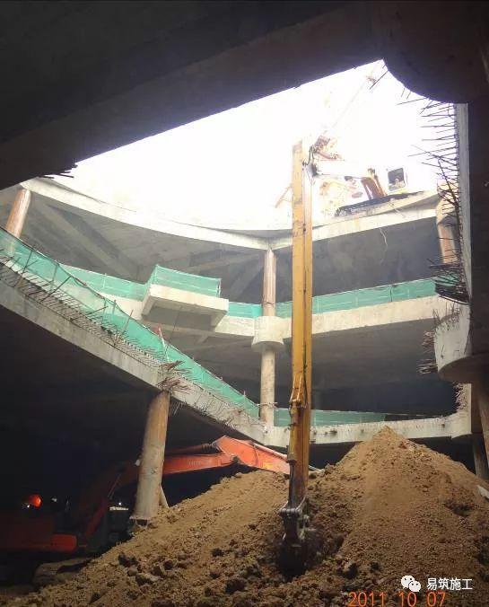 超高层建筑22米深基坑逆作法施工现场,看基础如何倒过来施工_25