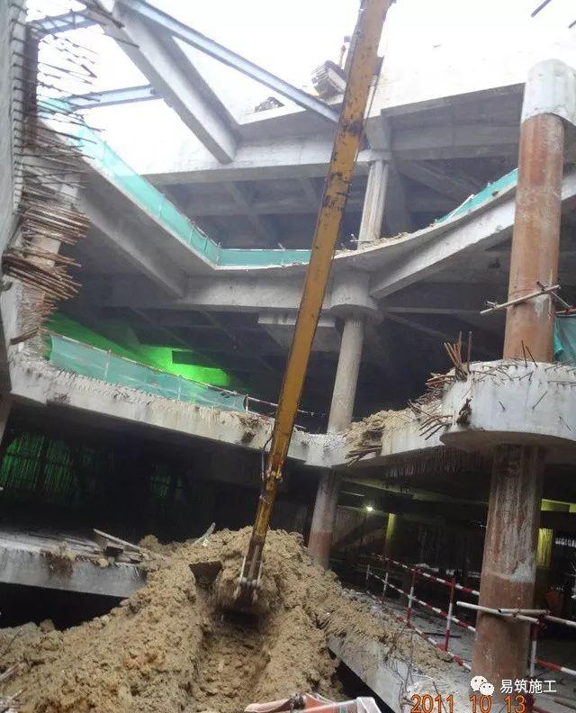 超高层建筑22米深基坑逆作法施工现场,看基础如何倒过来施工_26