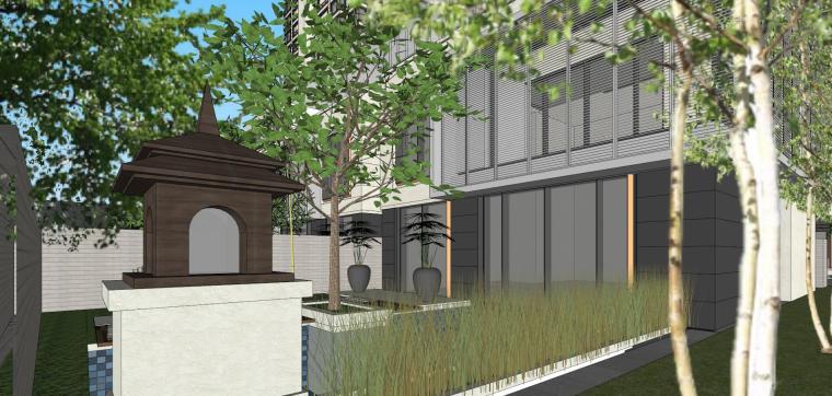 阳光城居住区建筑模型设计(新中式风格)-阳光城·杨浦区平凉社区地块投标 天华 (17)