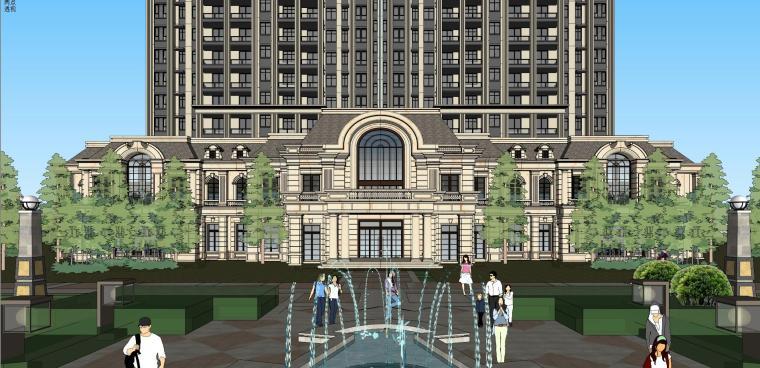 高层住宅建筑模型设计(法式风格)-法式高层 9#住宅 (4)