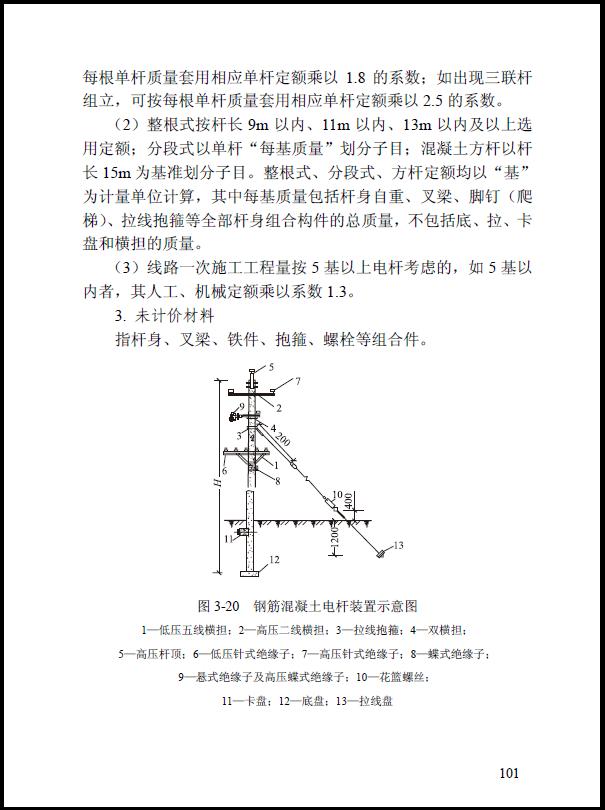 钢筋混凝土电杆装置示意图
