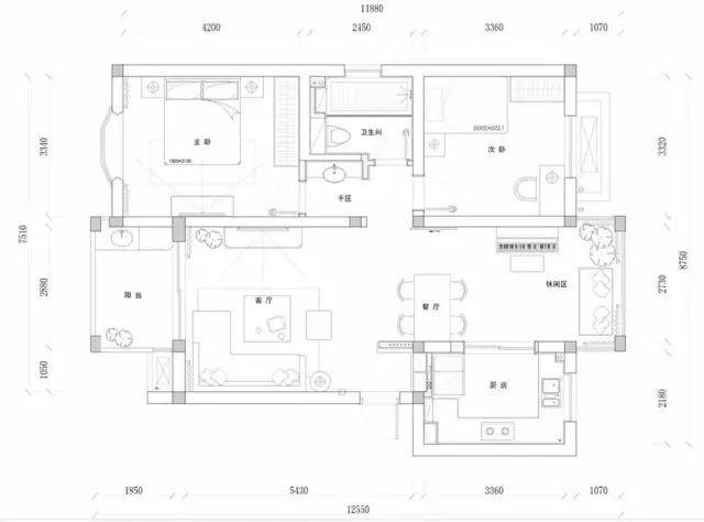 108平的现代简约风二居室,花25万来装点这个婚房