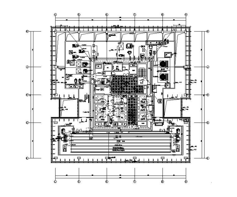 机房层配电平面图