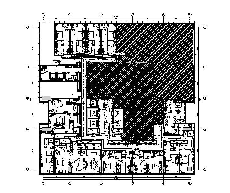 四十二层配电、插座平面图