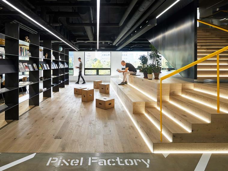 韩国PixelFactory数字现代卡办公空间-1