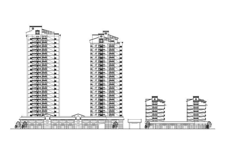 某花园住宅区规划及建筑施工图(含效果图)