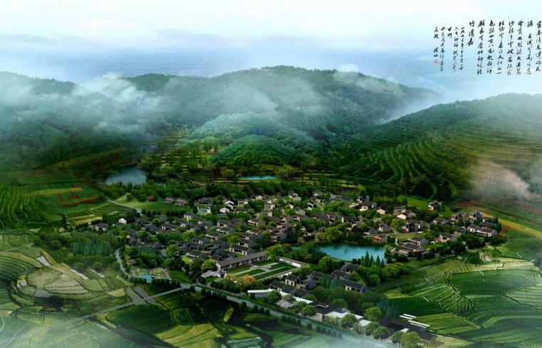 [浙江]金华冷坑村安养静心度假区规划文本-01鸟瞰