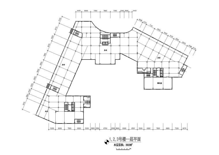 06住宅楼一层平面图