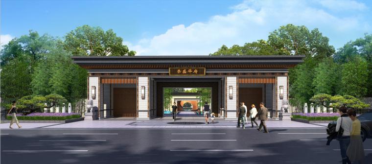 郑州荣盛华府235㎡上叠户型施工图+物料表-大门 (4)