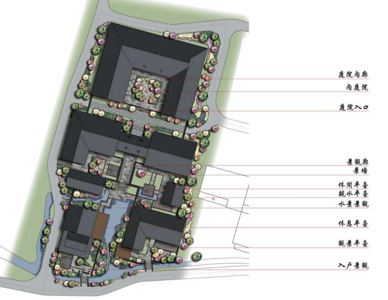 [浙江]金华冷坑村安养静心度假区规划文本-典型组团平面图(2)