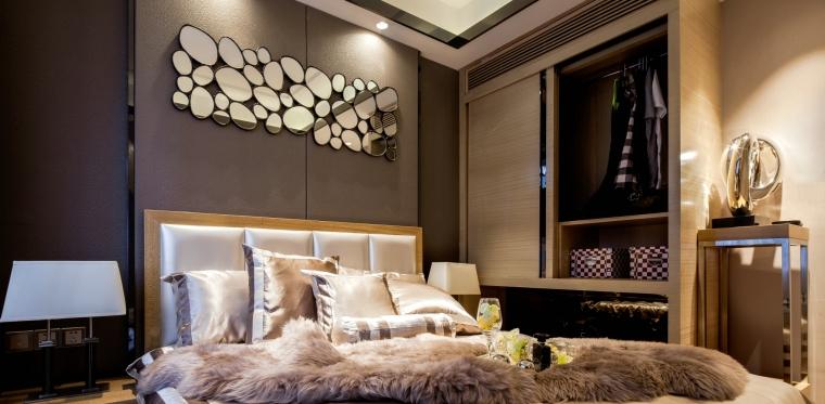 眉山凯旋国际公馆三居室样板室内装修施工图-1 (11)