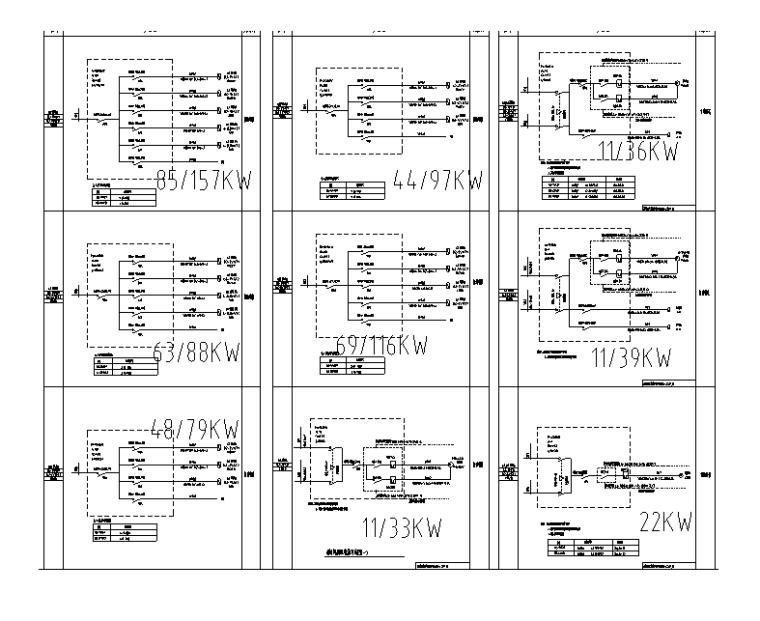 消防风机配电箱系统图(一)