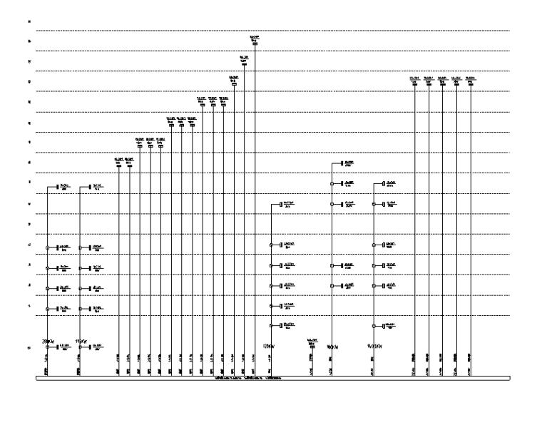 商业竖向配电系统图(二)