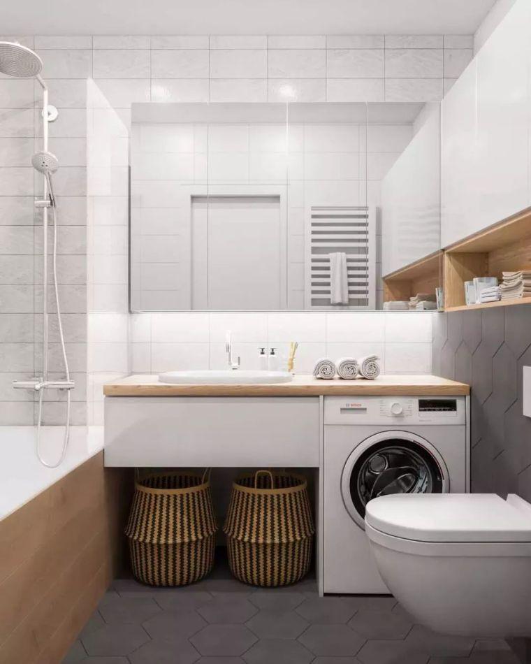 卫生间这样设计,能省掉好多家务活儿!