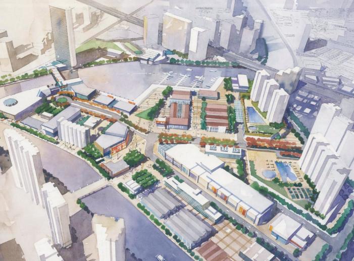 [上海]苏州河滨河景观地块详细规划设计文本-鸟瞰图4