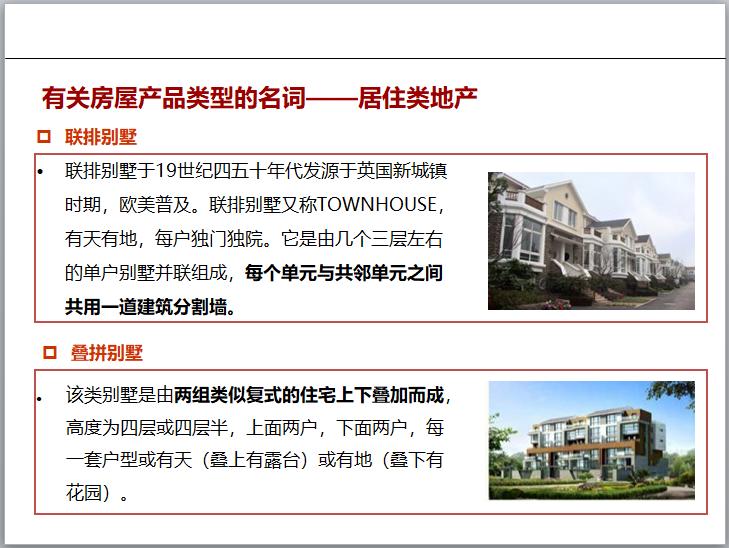 有关房屋产品类型的名词——居住类地产