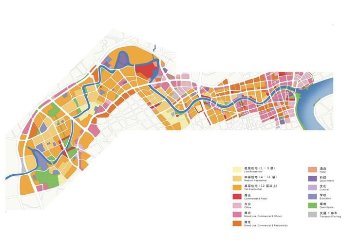 [上海]苏州河滨河景观地块详细规划设计文本-土地利用