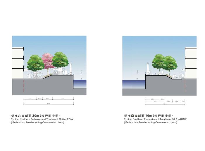 [上海]苏州河滨河景观地块详细规划设计文本-标准河岸断面一