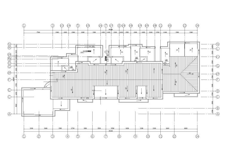 阳光城住宅区建筑设计施工图-屋顶平面图2