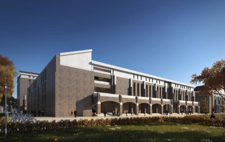 [山西]大学东山校区规划建筑模型设计-山西大学东山校区规划投标方案 哈工建院 (17)
