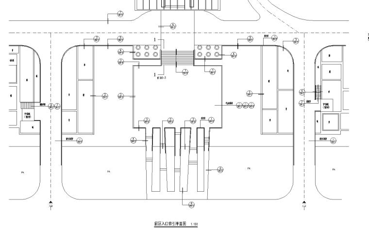 [内蒙古]青城居住区景观CAD施工图-知名景观公司-11 平台平面图_看图王