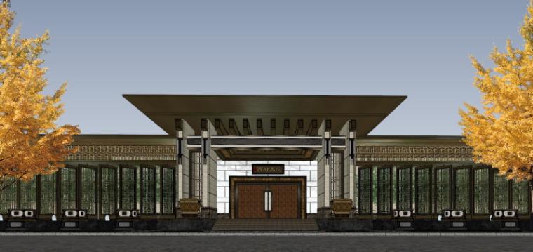 [北京]泰禾西府大院中式展示区建筑模型-北京泰禾西府大院 中式展示区 翰时建筑 (3)