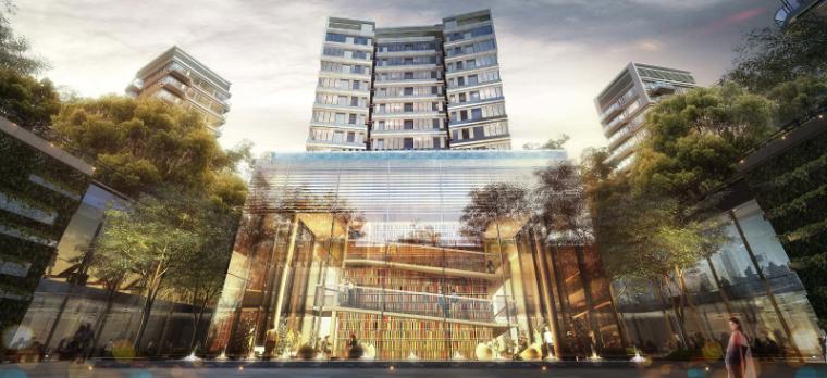 [上海]现代风格居住区建筑模型设计