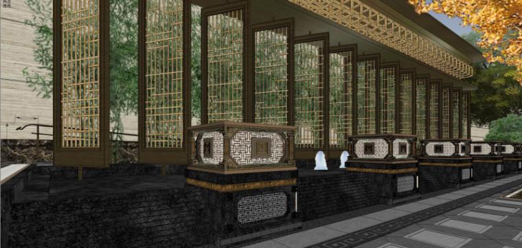 [北京]泰禾西府大院中式展示区建筑模型-北京泰禾西府大院 中式展示区 翰时建筑 (6)
