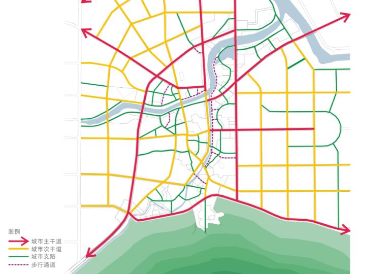 [湖北]通城县两河四岸村镇治理规划文本-交通规划图