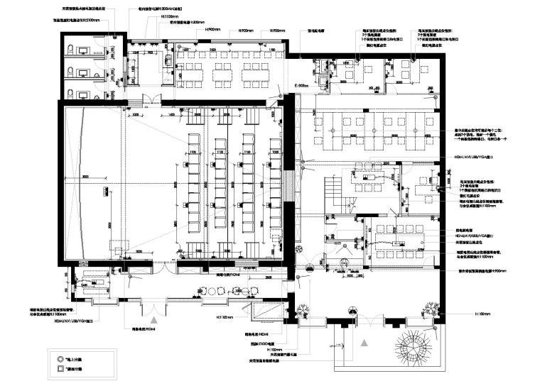 [上海]华谊兄弟办公室设计施工图+设计方案-强弱电配置图