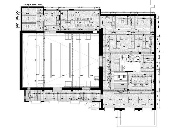 [上海]华谊兄弟办公室设计施工图+设计方案-灯具尺寸图