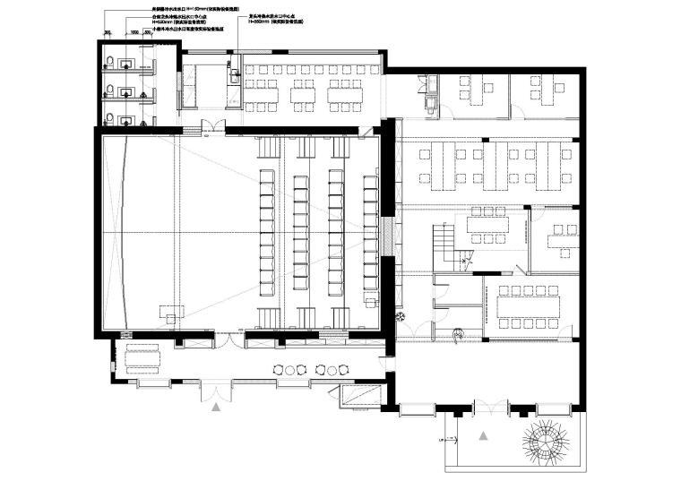 [上海]华谊兄弟办公室设计施工图+设计方案-给水配置图