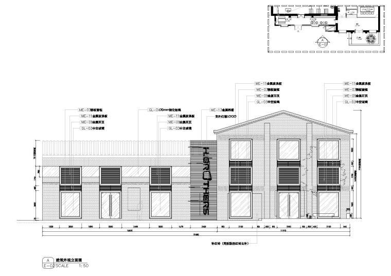 [上海]华谊兄弟办公室设计施工图+设计方案-立面图2