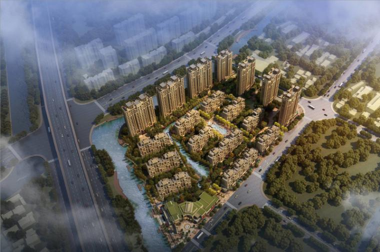 [上海]华发四季启动区+洋房建筑模型设计