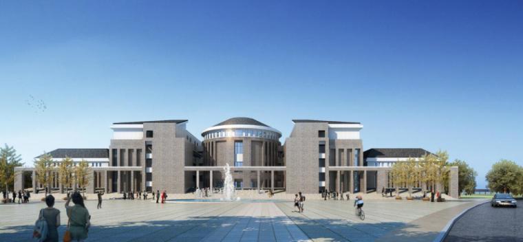 [山西]大学东山校区规划建筑模型设计-山西大学东山校区规划投标方案 哈工建院 (19)