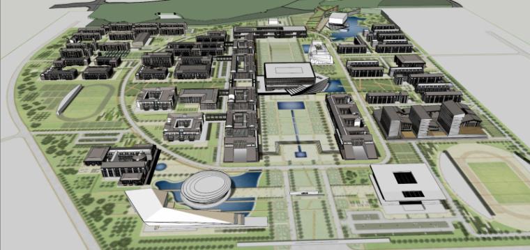 [山西]大学东山校区规划建筑模型设计-山西大学东山校区规划投标方案 哈工建院 (20)