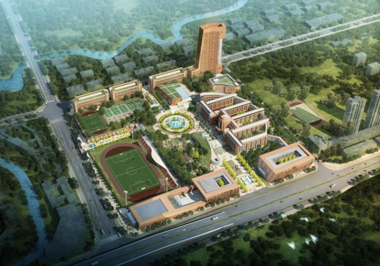 [重庆]现代风格学校建筑模型设计