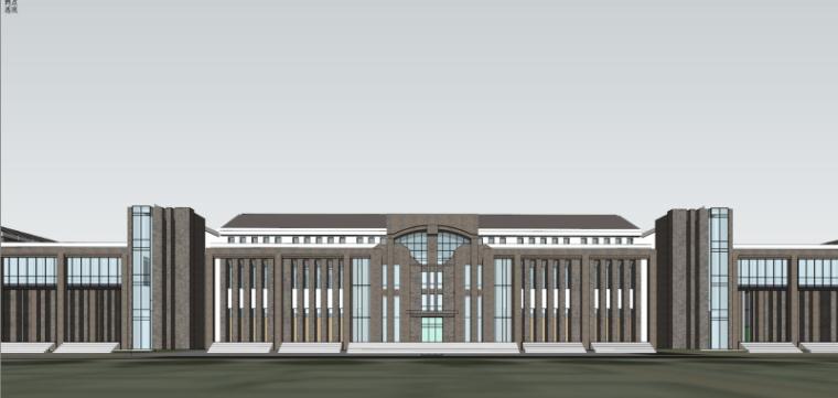 [山西]大学东山校区规划建筑模型设计-山西大学东山校区规划投标方案 哈工建院 (22)
