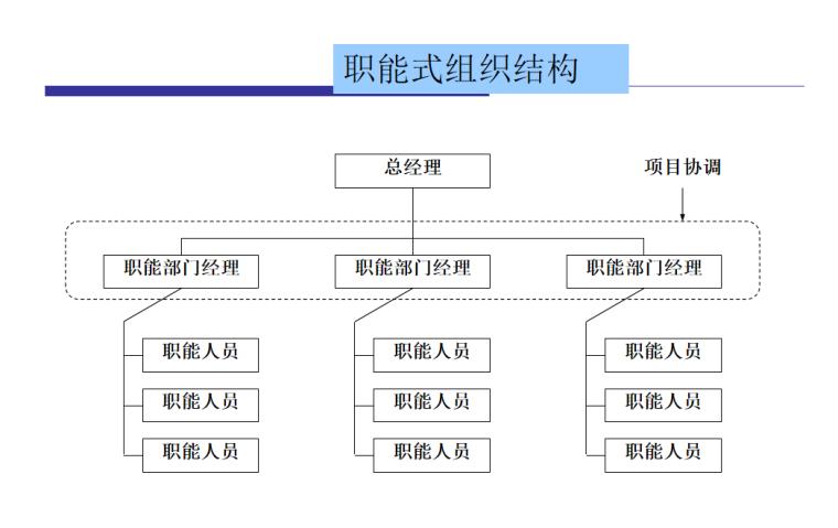 职能式组织结构