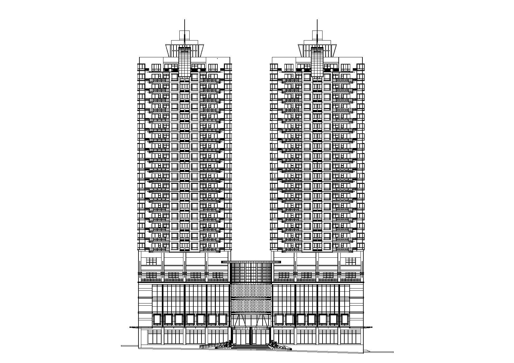 [湖南]长沙商业商务住宅综合大厦建筑施工图