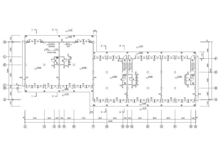 仿古民居建筑施工图(CAD)-平面图1