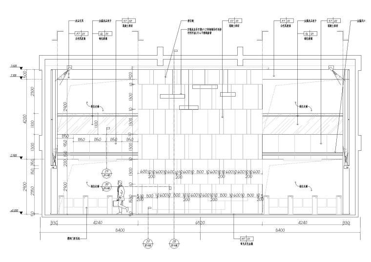 [湖南]中民筑友实验工厂装饰施工图+效果图-立面图