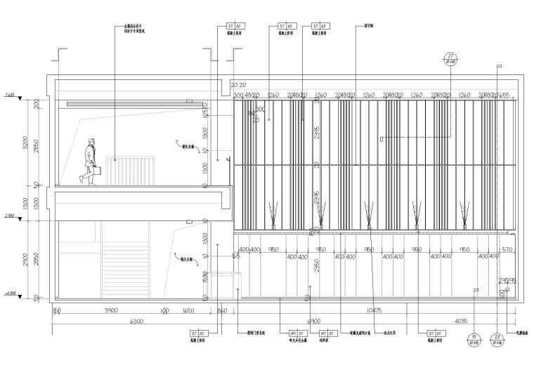 [湖南]中民筑友实验工厂装饰施工图+效果图-立面图2