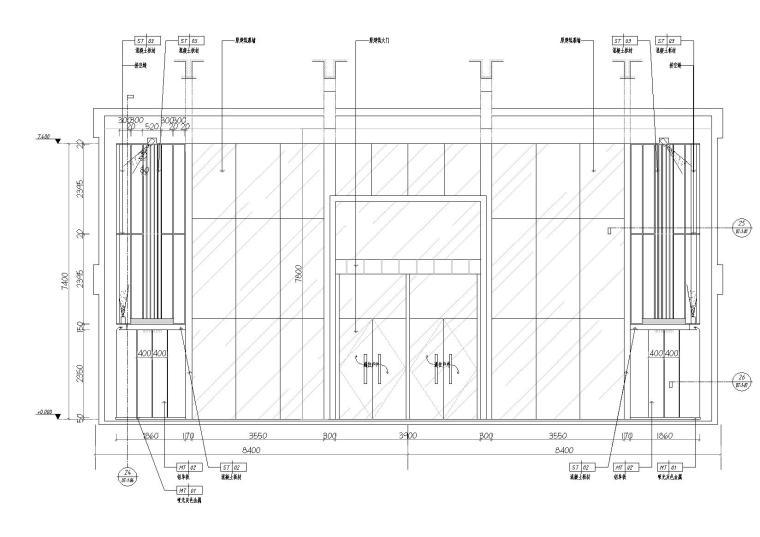 [湖南]中民筑友实验工厂装饰施工图+效果图-立面图3