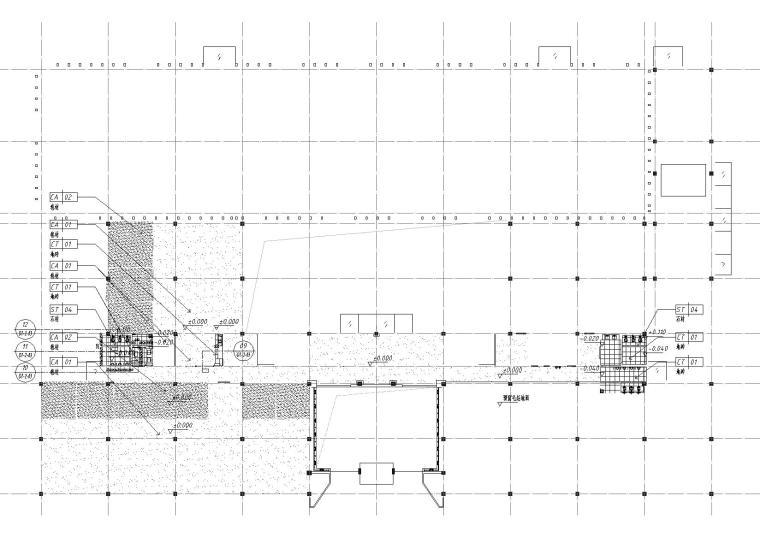 [湖南]中民筑友实验工厂装饰施工图+效果图-地面铺装图