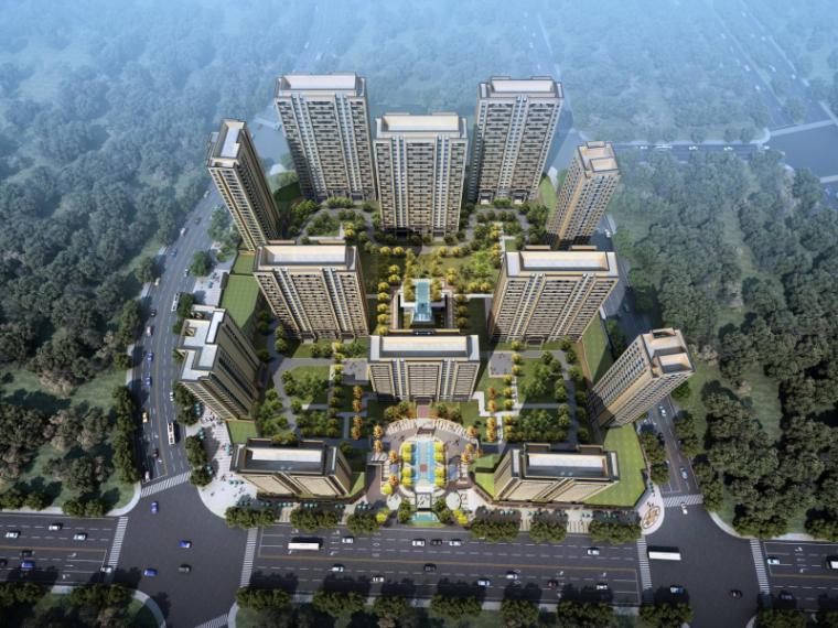 [陕西]新古典风格展示区建筑模型