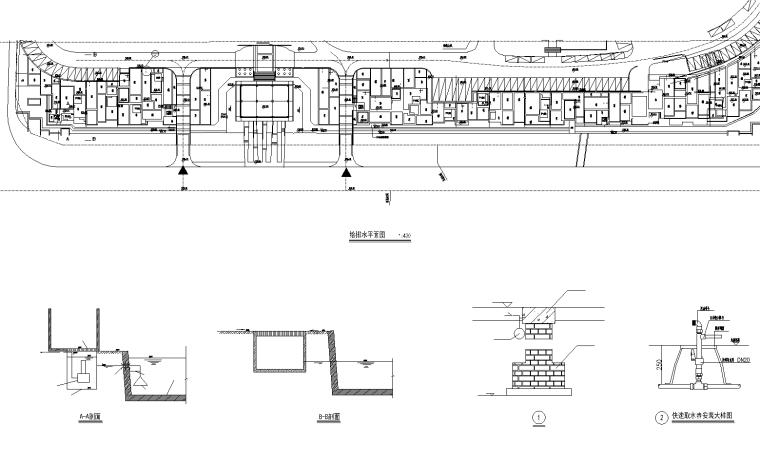 [内蒙古]青城居住区景观CAD施工图-知名景观公司-4 给排水图_看图王