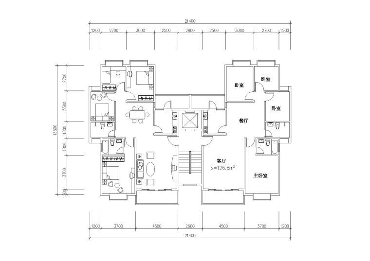 户型平面图(6)