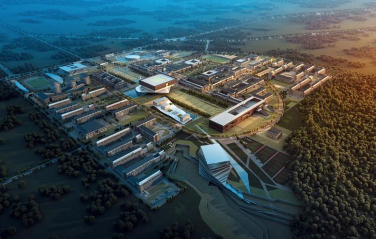[山西]大学东山校区规划建筑模型设计-山西大学东山校区规划投标方案 哈工建院 (2)
